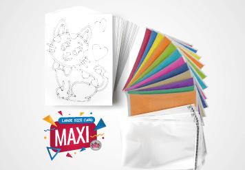 Maxi Sand Art Kit - Large Size Sand Painting Card