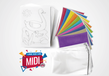 Midi Sand Art Kit - Large Size Sand Painting Card