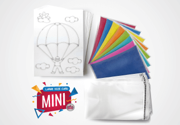 Mini Sand Art Kit - Large Size Sand Painting Card